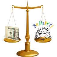 felicità e ricchezza